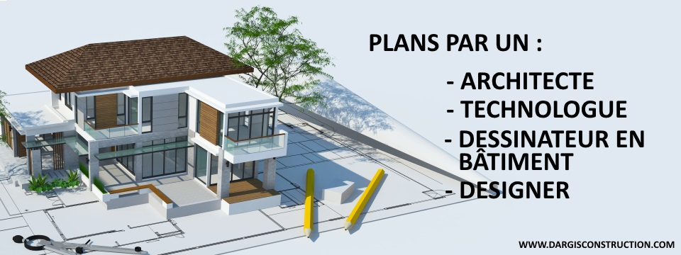 Plan architecte ou technologue architecture maison montreal for Plans d architecture maison