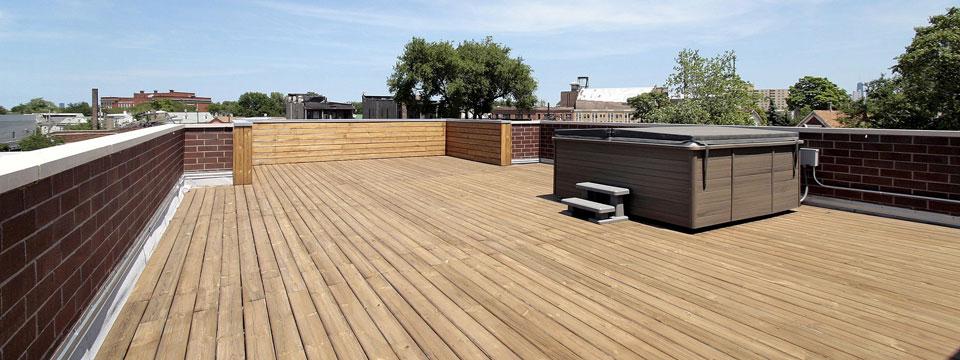 Roof repair montreal construction daniel dargis inc for Avancee de toit pour terrasse